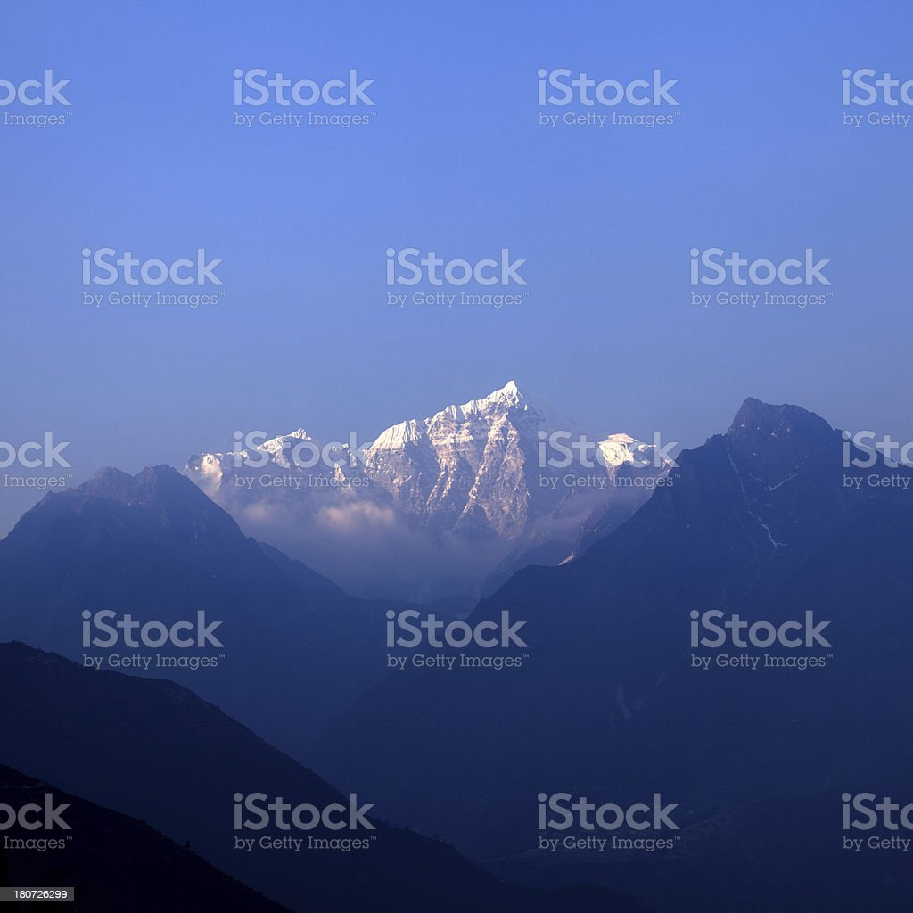 Sunset on Himalayas royalty-free stock photo