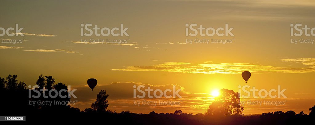 Sunset on Hunter Valley, NSW,Australia royalty-free stock photo
