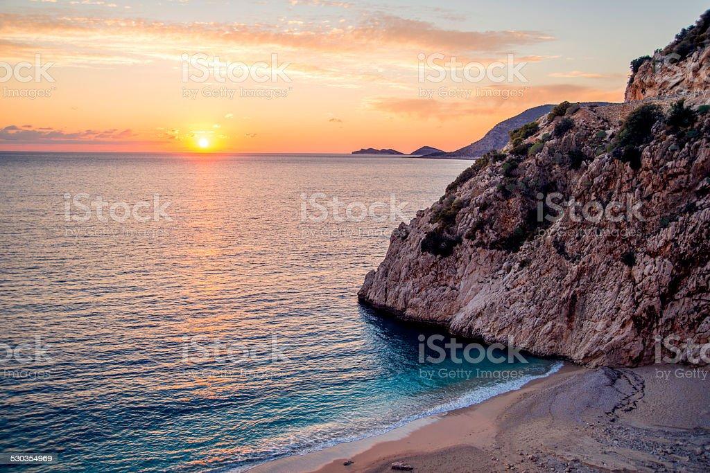 Sunset on Kaputas. stock photo