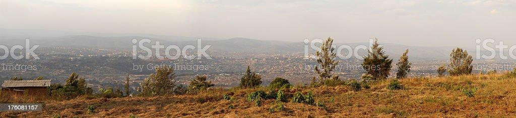 Sunset on Kigali - Rwanda stock photo