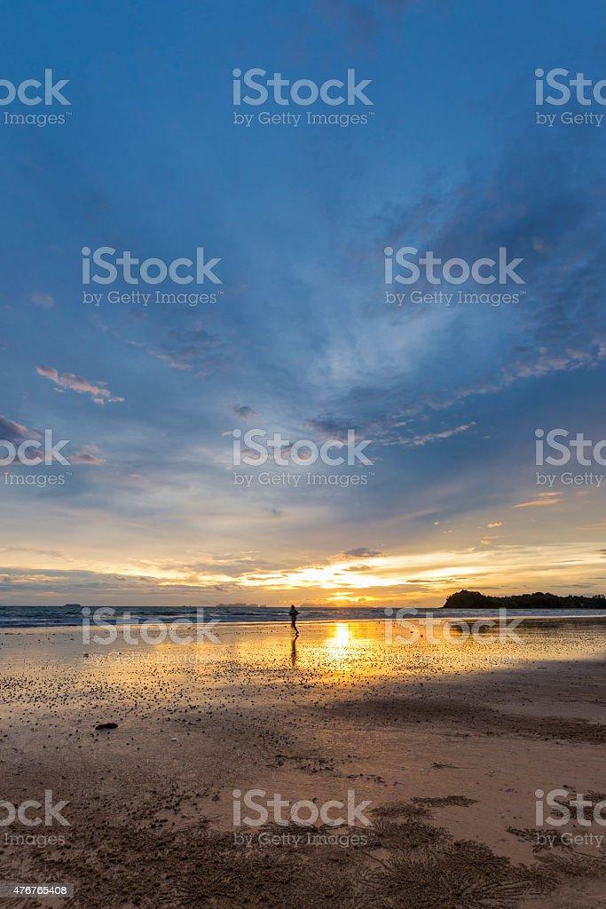 Sunset on Koh Lanta stock photo
