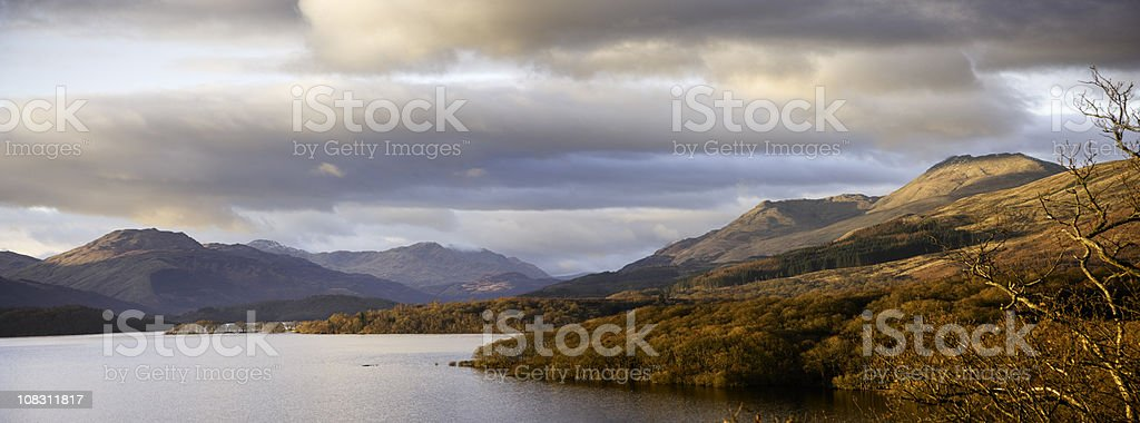 Sunset On Loch Lomond royalty-free stock photo