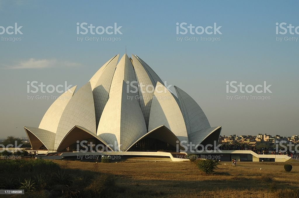 Sunset on lotus temple royalty-free stock photo