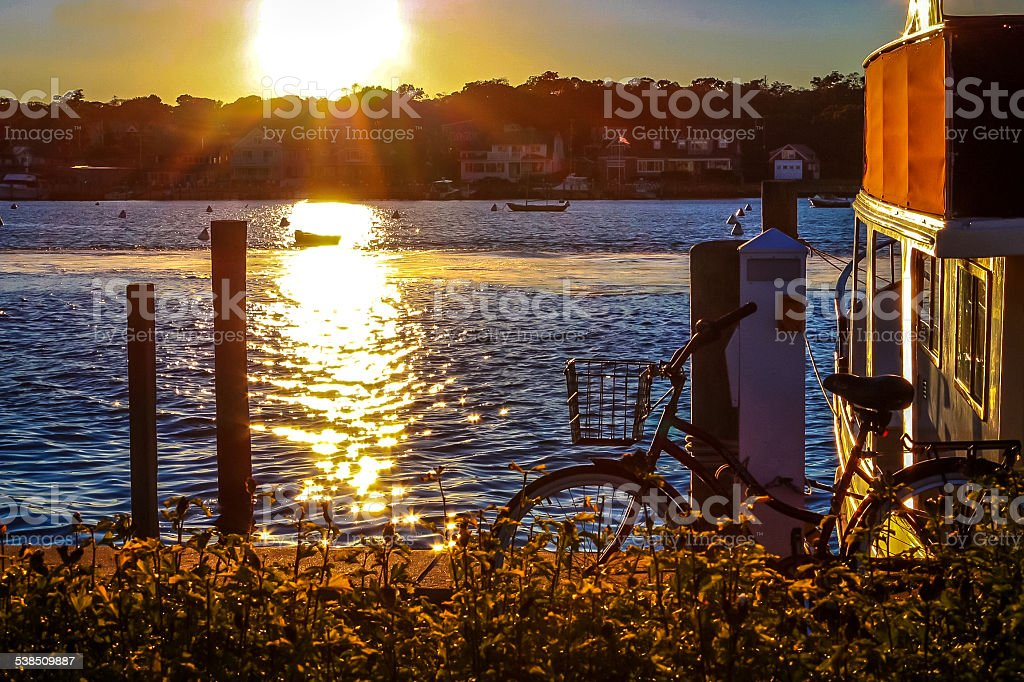 Sunset on Martha's Vineyard stock photo