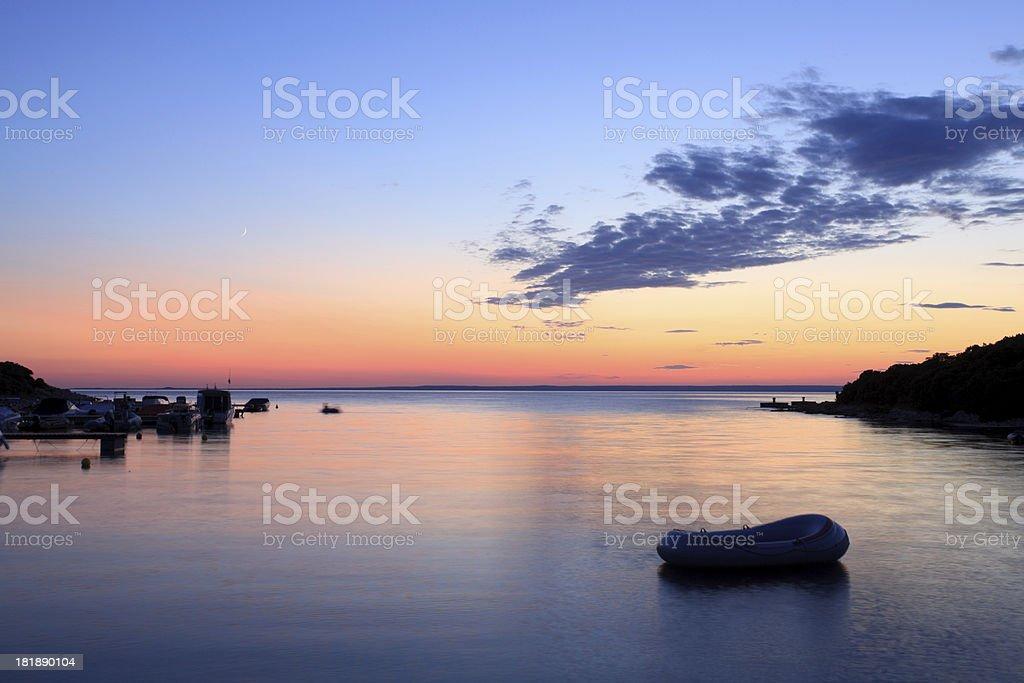 Sunset on Mediterranean Island royalty-free stock photo