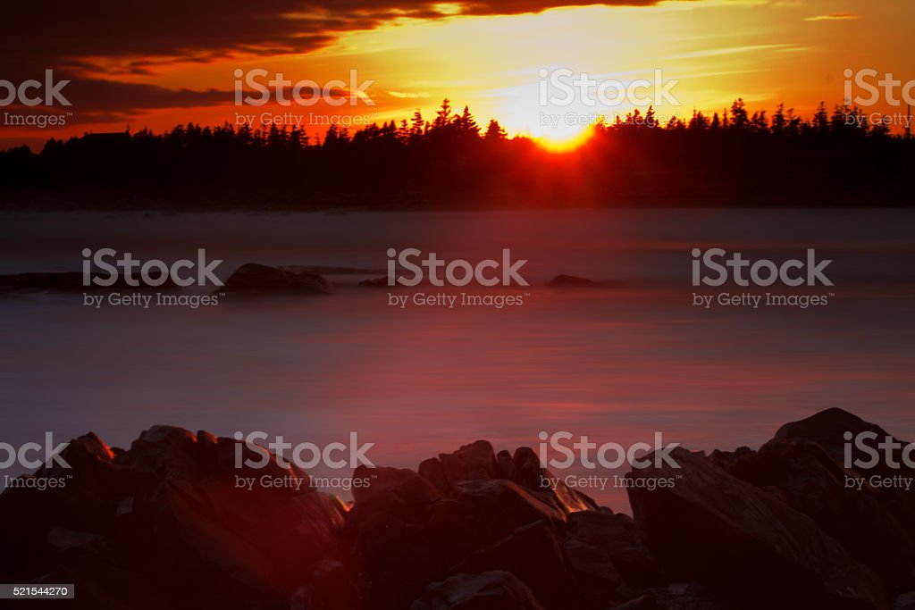Sunset on Nova Scotia stock photo