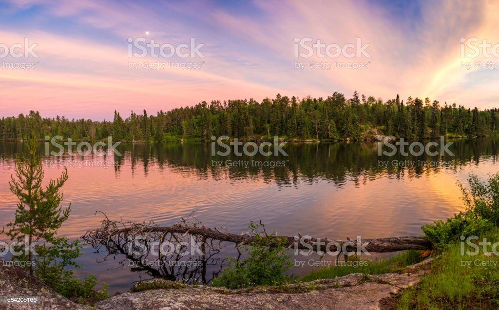 Sunset on Ontario Lake stock photo