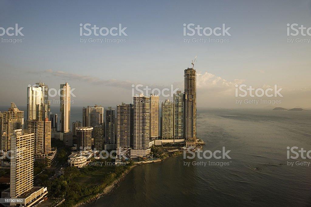 Sunset on Panama City royalty-free stock photo