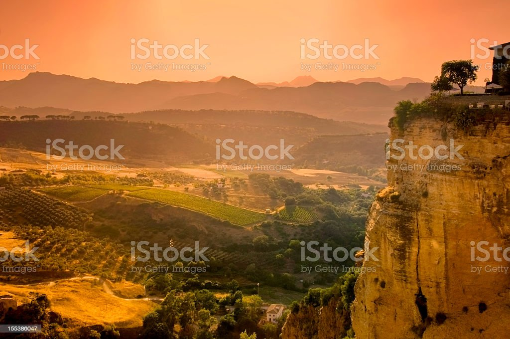 Sunset on Ronda stock photo