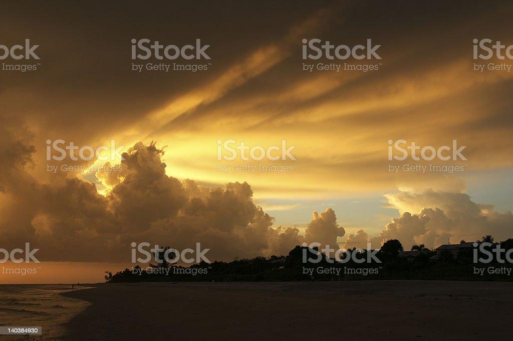 Sunset on Sanibel royalty-free stock photo