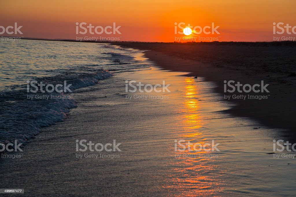 Sunset on South Cape Beach stock photo