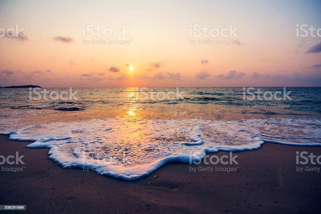 Sunset on Thailand stock photo