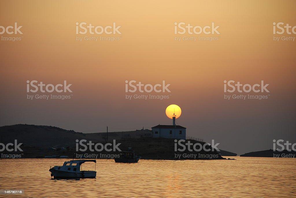Sonnenuntergang am Strand Lizenzfreies stock-foto