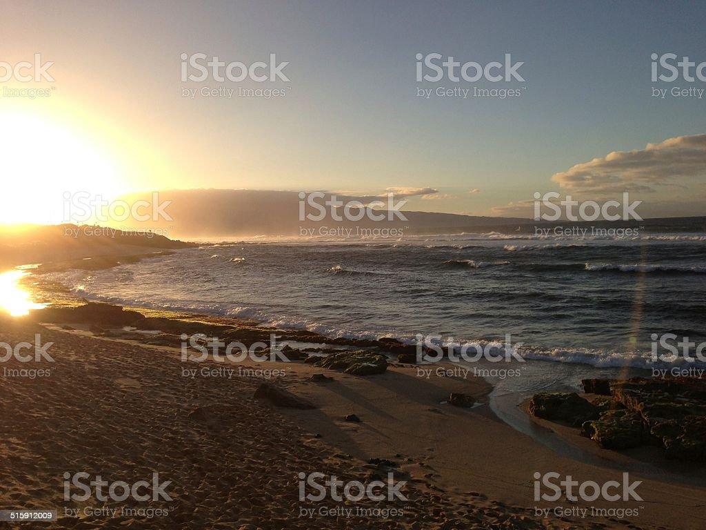 Sunset on the Beach/ Sonnenuntergang am Strand stock photo