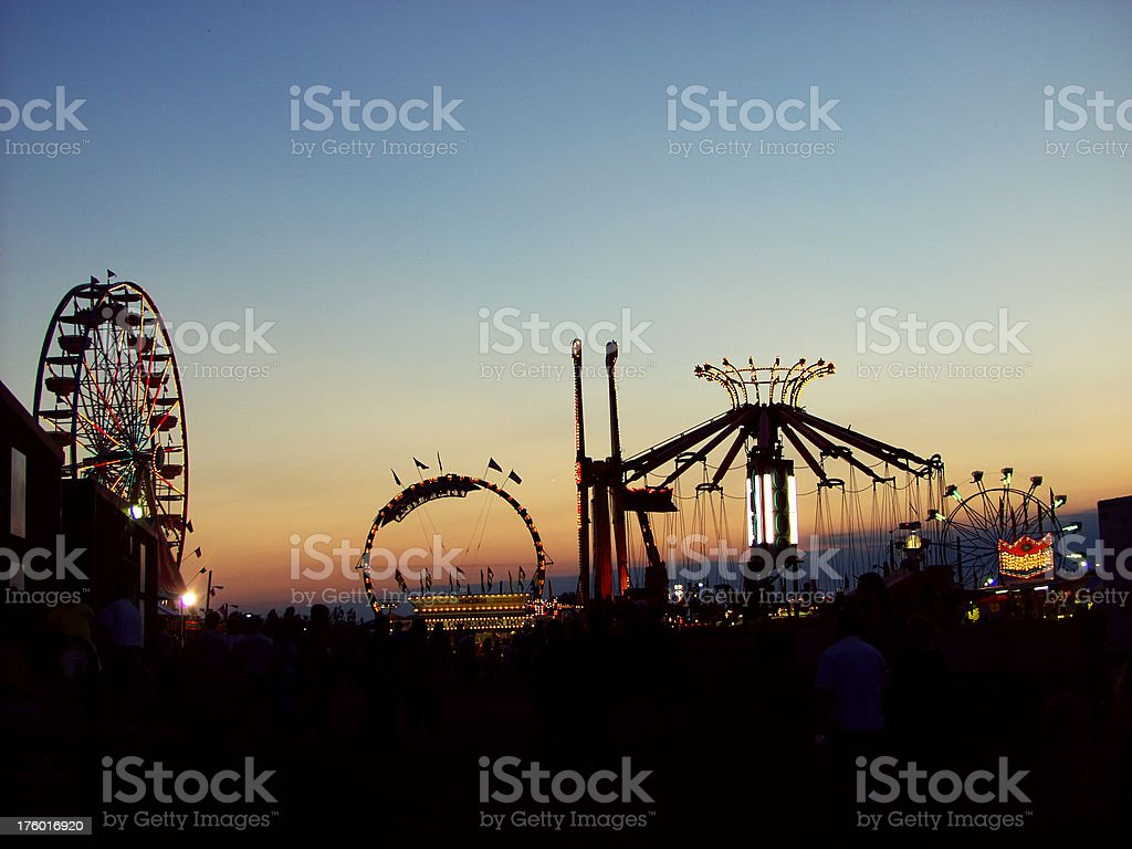 Sunset on the Carnival stock photo