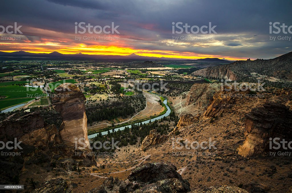 Sunset on the Cliff stock photo