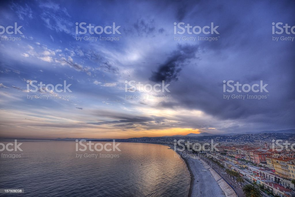Sunset on the Côte d'Azur royalty-free stock photo