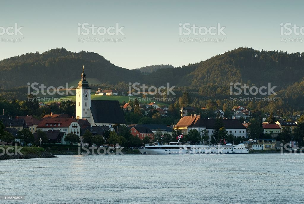Sunset on the Danube royalty-free stock photo