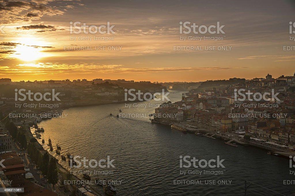 Sunset on the Douro stock photo