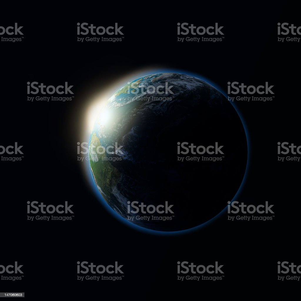 sunset on the Earth royalty-free stock photo