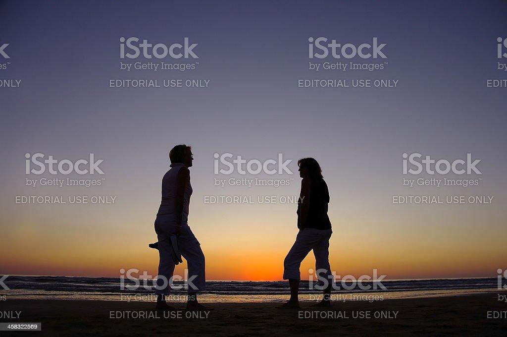 Sunset on the Frence Atlantic coast stock photo