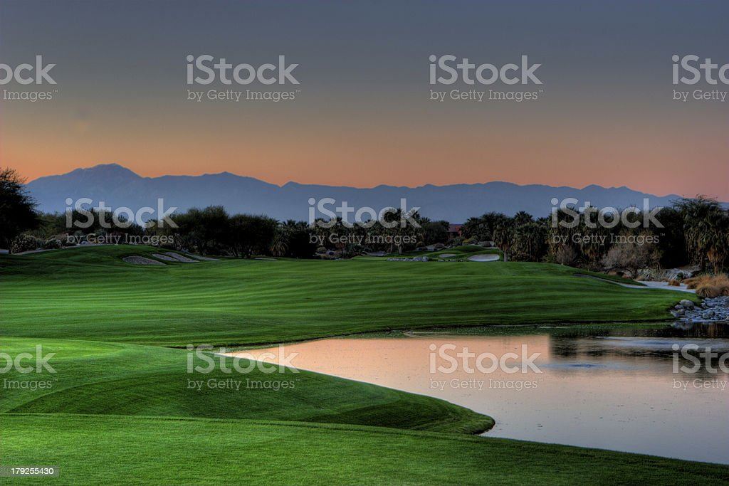 Sunset on the Golf Course royalty-free stock photo