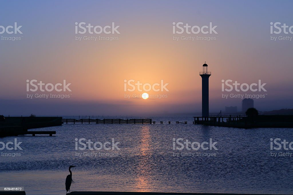 Sunset on the Gulf Coast stock photo