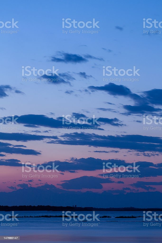 sunset on the lagoon royalty-free stock photo