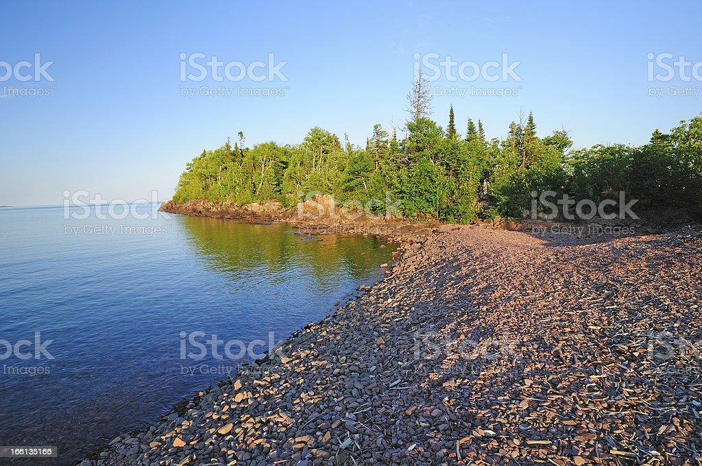 Sunset on the Lake shore royalty-free stock photo