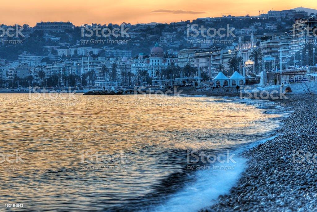 Sunset on the Mediterranean royalty-free stock photo
