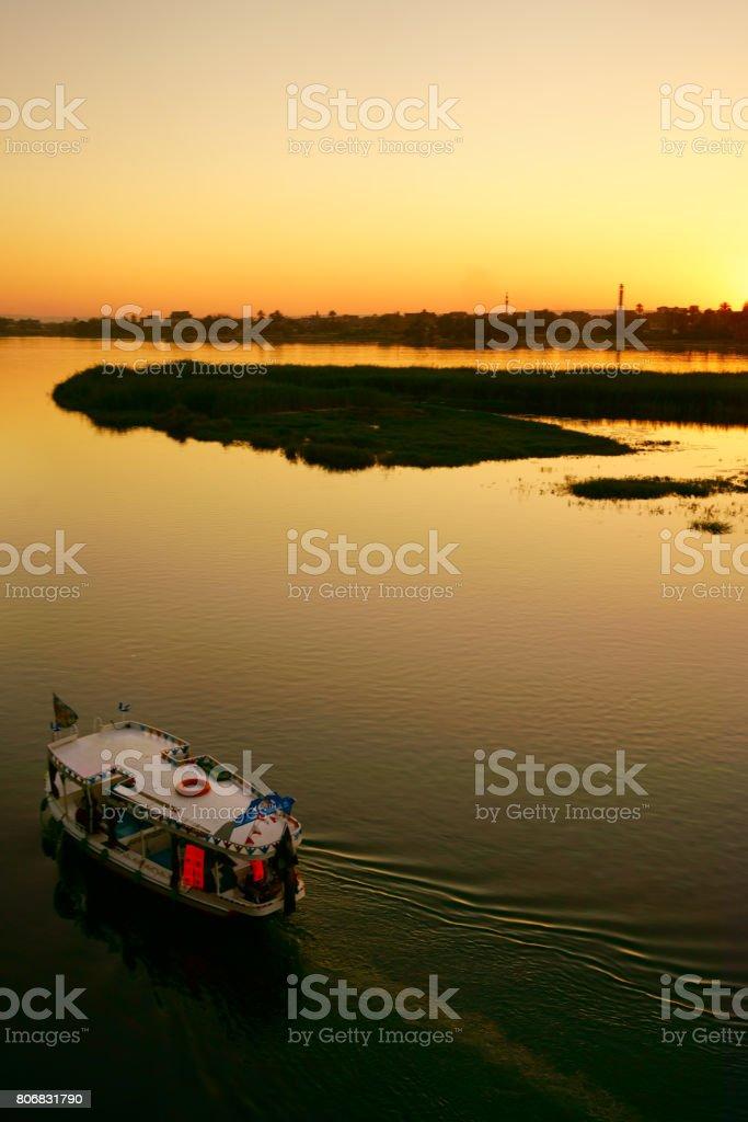 Sunset on the Nile stock photo