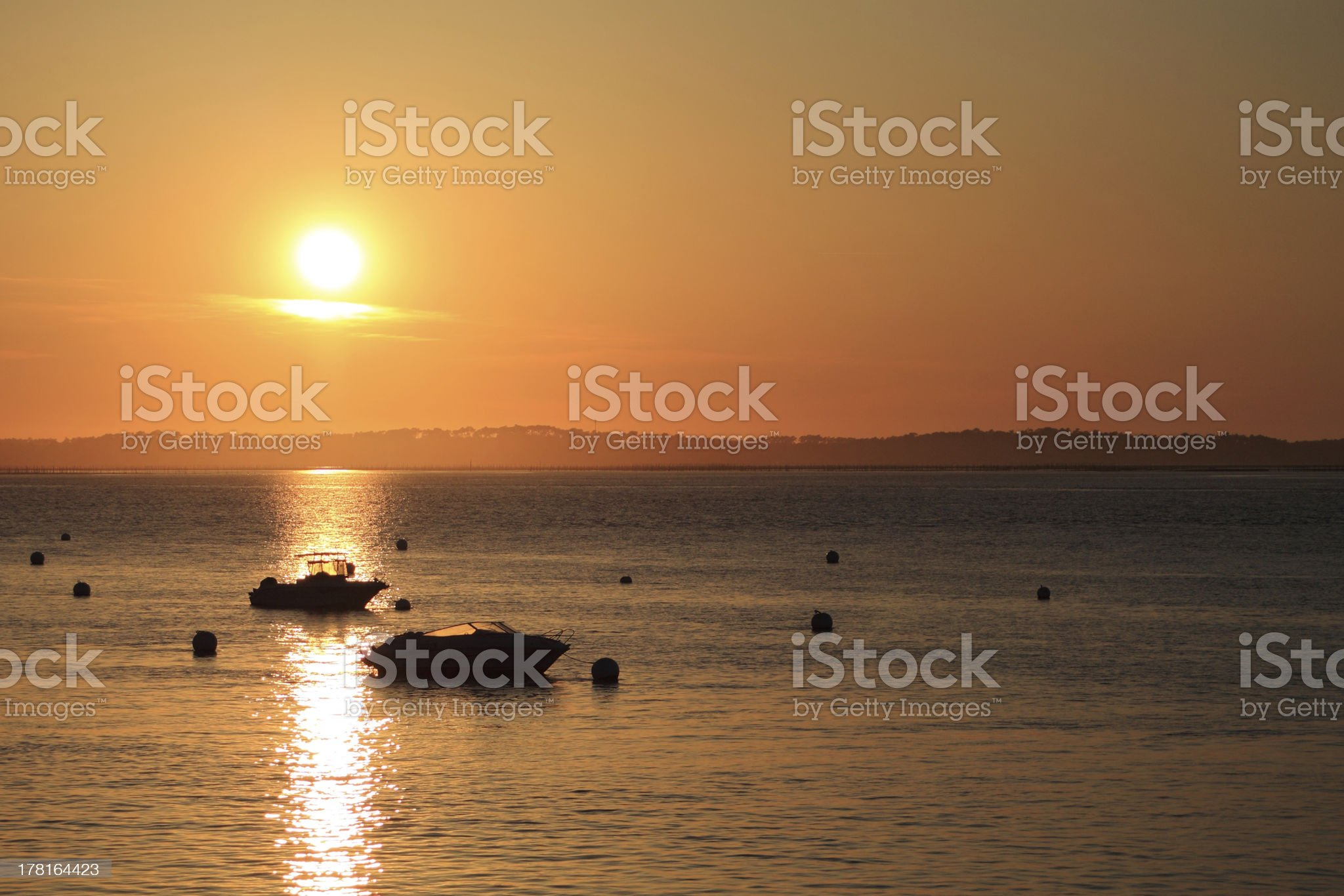 sunset on the ocean royalty-free stock photo