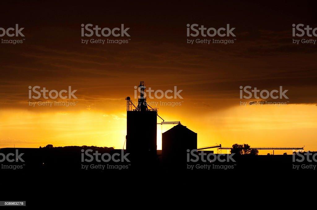 Sunset On The Praire stock photo