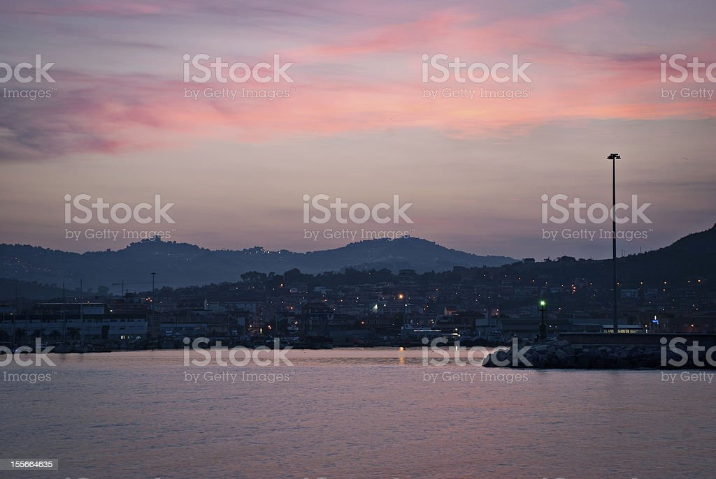 Sunset on the sea. royalty-free stock photo
