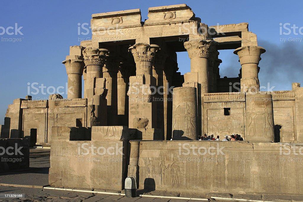 Sunset on the Temple of Kom Ombo Egypt stock photo