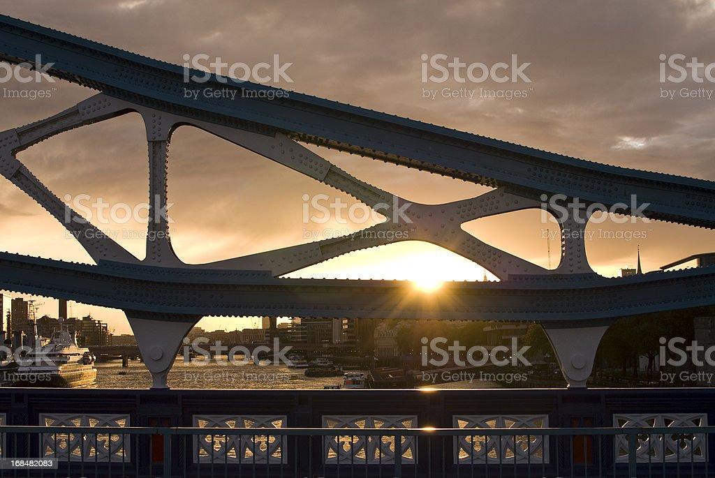 Sunset on the Tower Bridge stock photo