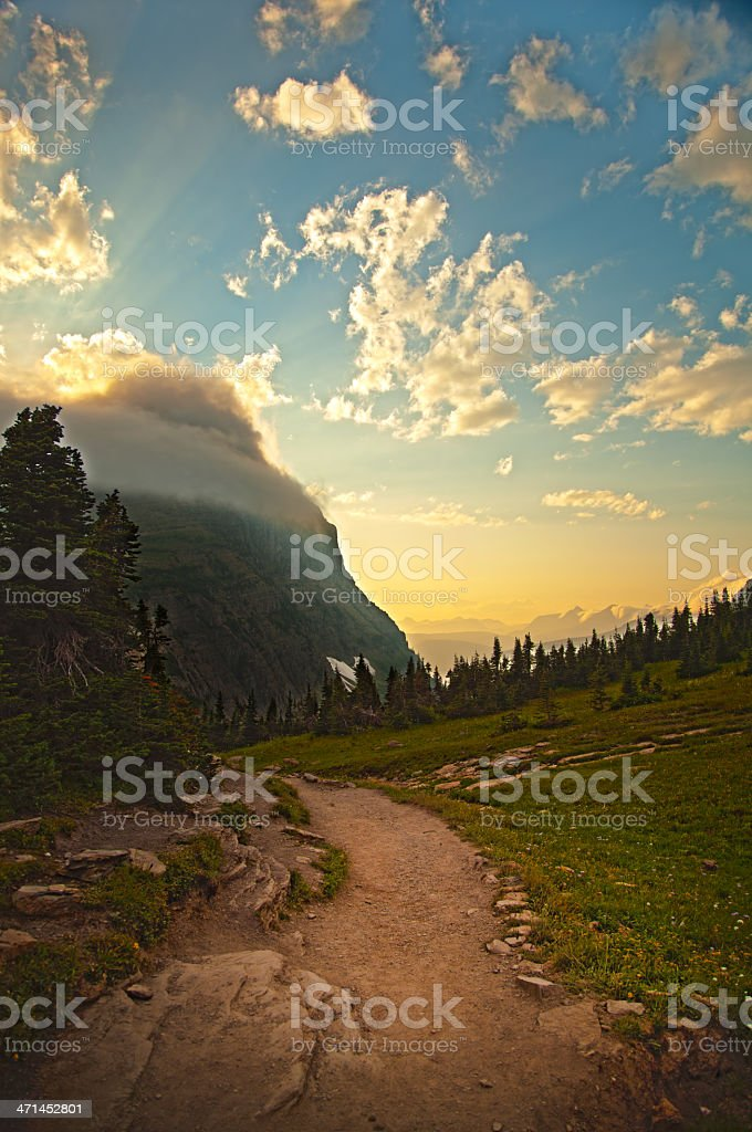 Sunset on the trail royalty-free stock photo