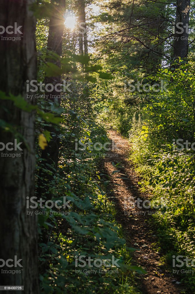 Sunset on the Trail stock photo