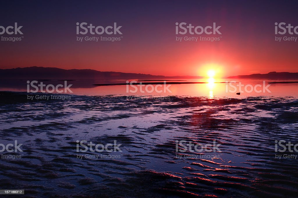 sunset on the water royalty-free stock photo