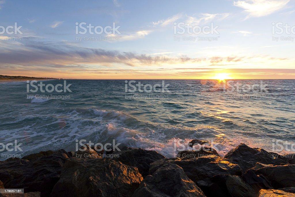 Sunset on the West Coast royalty-free stock photo