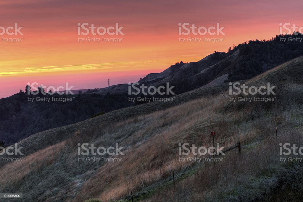 Sunset on Windy Hill - HDR Photo royalty-free stock photo