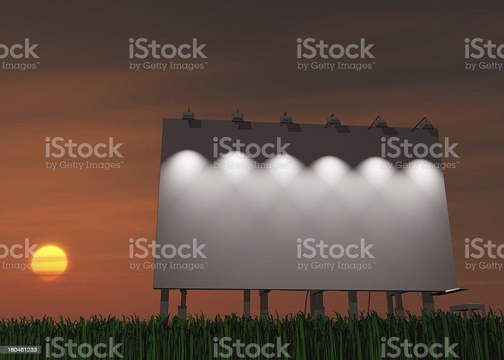 Sunset or sunrise billboard royalty-free stock photo