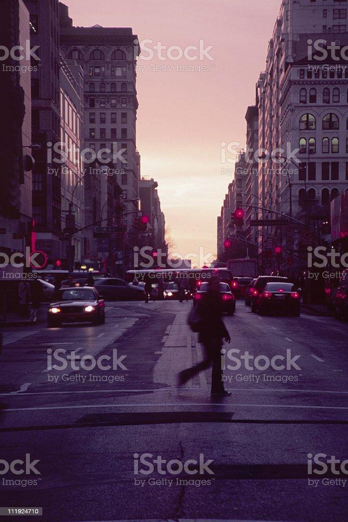 Sunset Over 14th Street, New York City stock photo