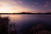 Sunset Over a Small Minnesota Lake