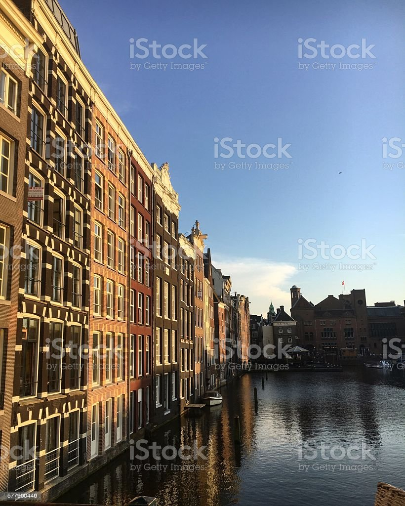 Sunset over Amsterdam stock photo