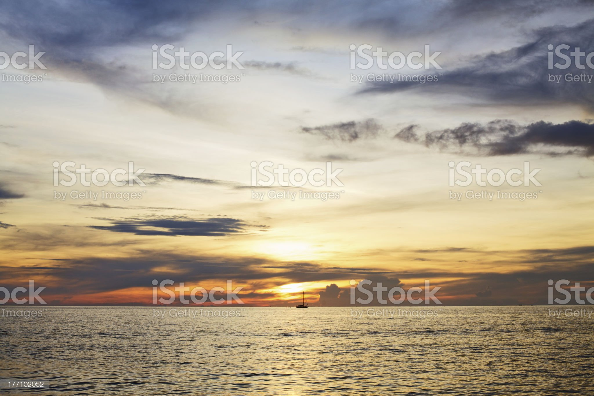 Sunset over Andaman Sea royalty-free stock photo