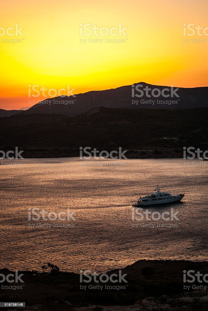 Coucher de soleil sur Attika photo libre de droits