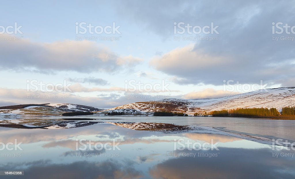 Sunset over Backwater Reservoir royalty-free stock photo