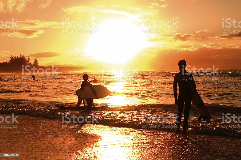 Sunset over beach royalty-free stock photo
