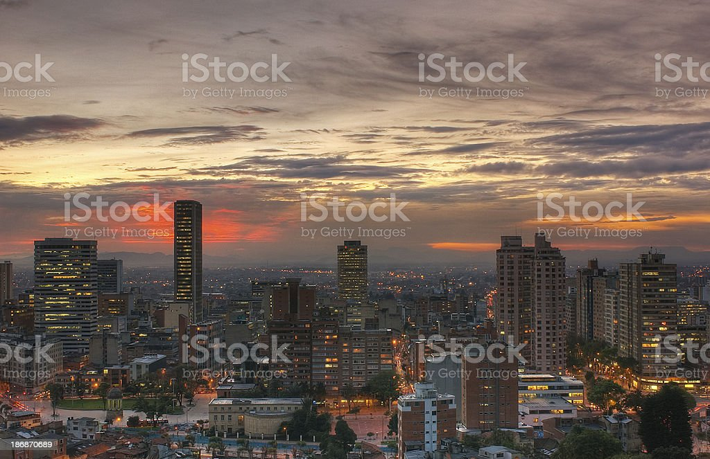 Sunset over Bogot?, HDR stock photo